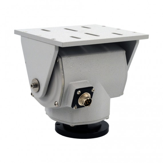 Pt 1010 small pan tilt with rs 485 pelco d or dc drive for Pan and tilt head motorized